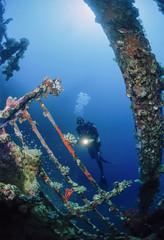 SUDAN, Red Sea, U.W. photo, wreck diving, Umbria wreck