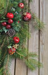 déco Noël avec branches de sapin