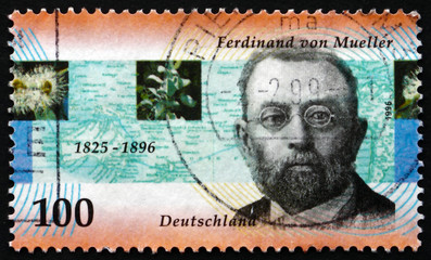 Postage stamp Germany 1996 Ferdinand von Mueller, Botanist