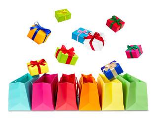 Geschenke einkaufen Studioaufnahme