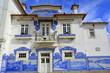 Leinwanddruck Bild - Fachada de la estación de Aveiro. Portugal