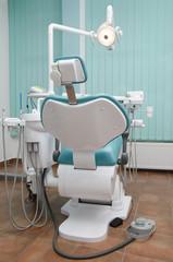 Modern dental chair empty