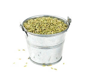 fennel seeds isolated on white background