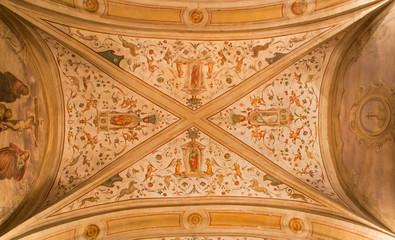 Padua - The ceiling fresco in church San Benedetto vecchio