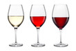 canvas print picture - wine glass set