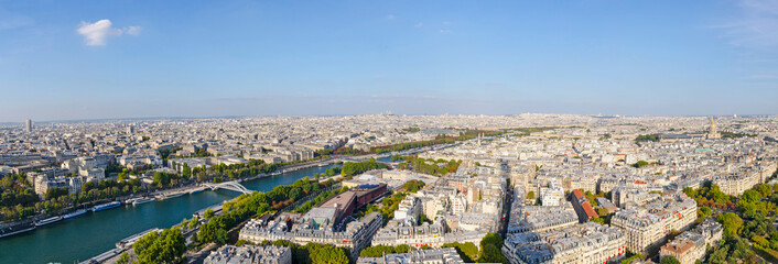 Panoramic of the city of Paris
