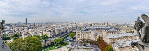 Foto Spatwand Luchtfoto Panoramic of Paris