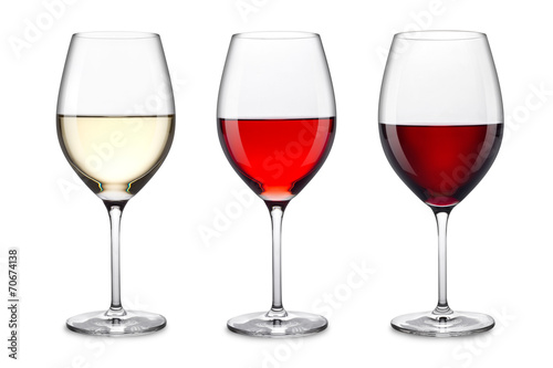 Foto op Plexiglas Wijn wine glass set