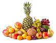 Assortment of exotic fruits. Fresh Fruits