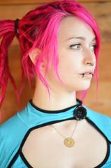 Red Rasta Hair Girl Profil