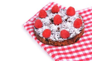 Delicious cake panforte isolated on white