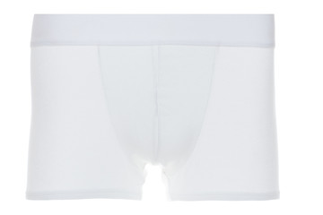 Front View of White Boxer Brief Underwear