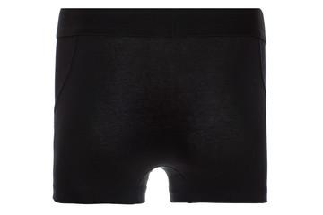 Rear View of Black Boxer Brief Underwear