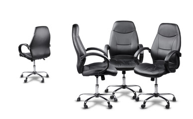 Office chairs meeting, one disagrees