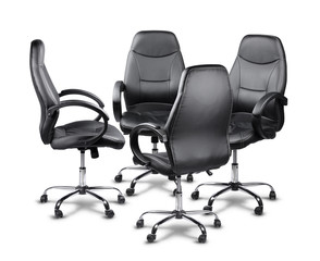 Office chairs having a meeting
