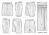 Fototapety Men's white sport shorts.