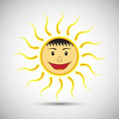 Smile sun on white background