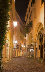 Padua - The street of gheto at night.