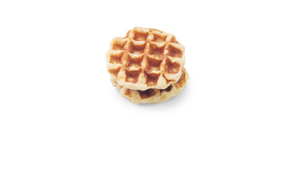 waffle isolate with clipping path