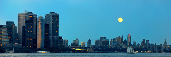 Manhattan downtown skyline
