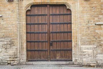 Hintergrund mittelalterliche Holztür