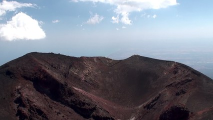 Lateral crater of Mount Etna. Sicily
