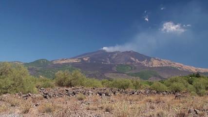 Southern slope of Mount Etna. Sicily