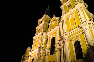 Church, night view