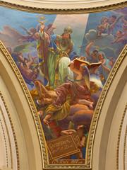 Bergamo - fresco of st. Augustine