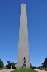 Bunker Hill Monument in Charlestown, Boston, Massachusetts