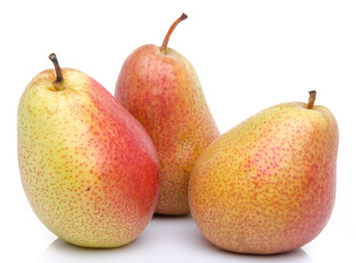 Ripe red yellow pears