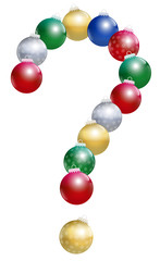Christmas Balls Question Mark