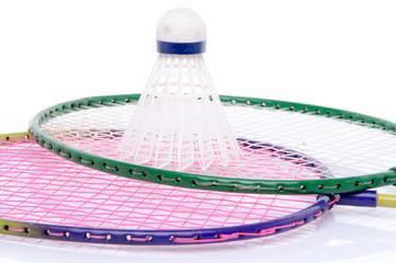 Badminton rackets and shuttlecock