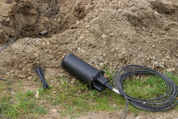 Drilling under street for fibre optic cable installation 2