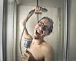 Leinwanddruck Bild - Singing in the shower