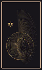 Tarot cards - back design, wing