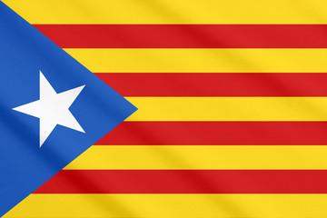 Estelada, Catalan independist's flag waving