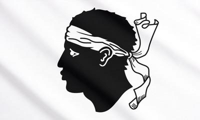 Corsica waving flag