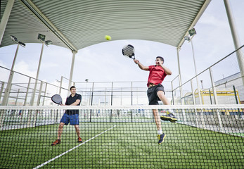 Paddle tennis shot