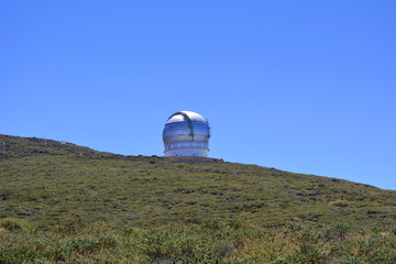 The largest astronomical observatory located. La Palma Island