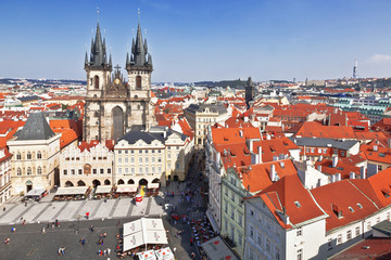 Prague. Tyn Cathedral of the Virgin Mary