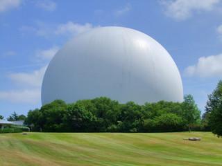 gigantic white cupola