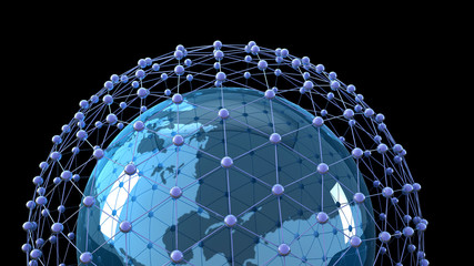 Internet Concept of global business, global network
