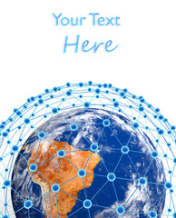 3d illustration of  Internet Concept of global business