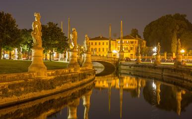 Padua - Prato della Valle at night.