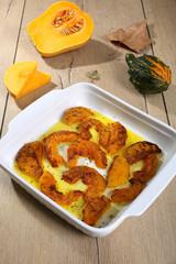 zucca gialla cotta in forno
