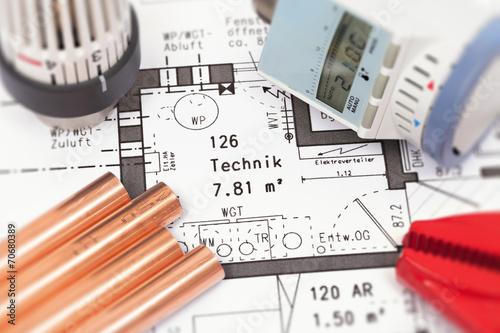 Leinwanddruck Bild Haustechnik > Heizung