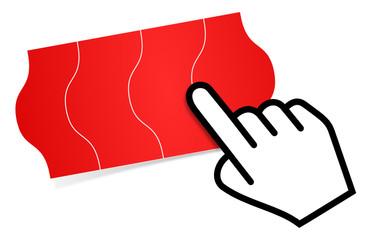 Preisschild rot Cursor