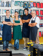 Salespeople Smiling In Hardware Store