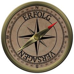 Bronce Kompass Erfolg Versagen